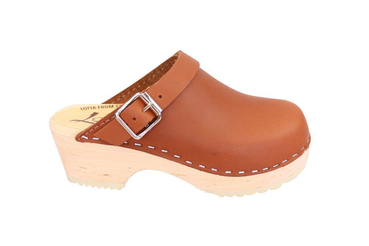 Little Lotta's Classic Tan Clog side