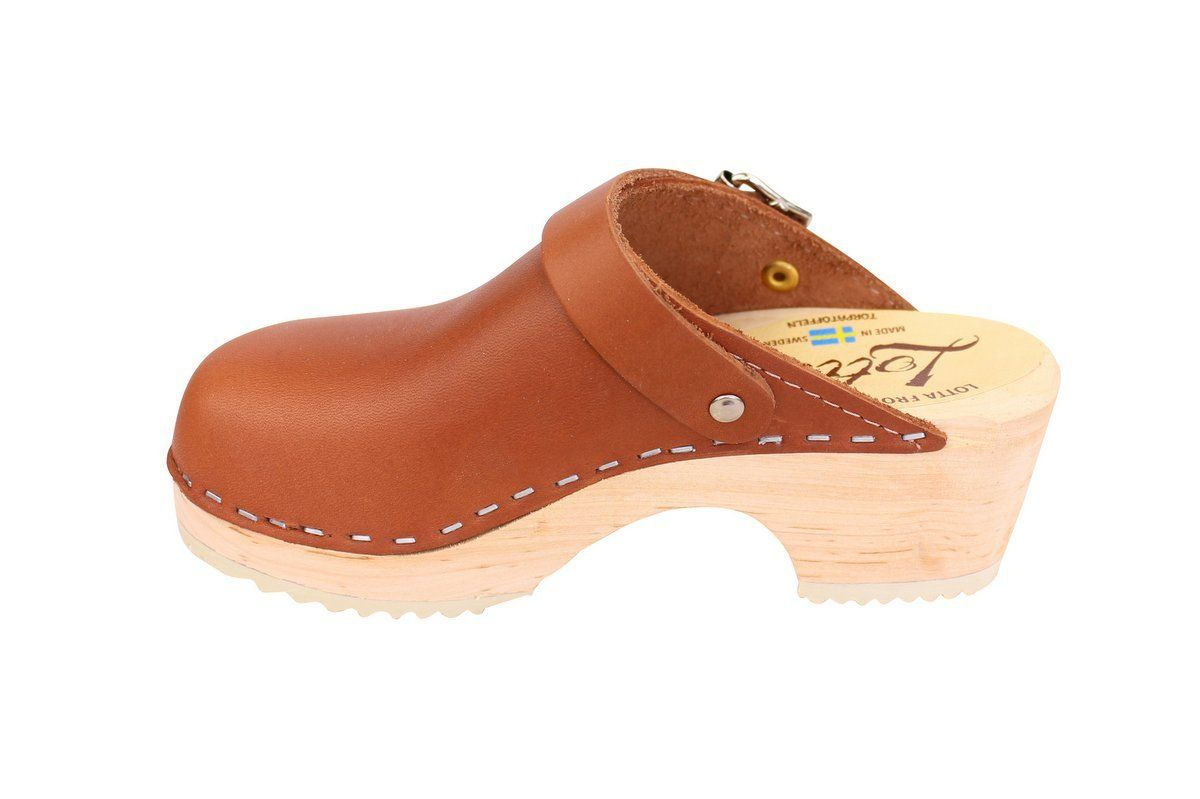 Little Lotta's Classic Tan Clog rev side 2