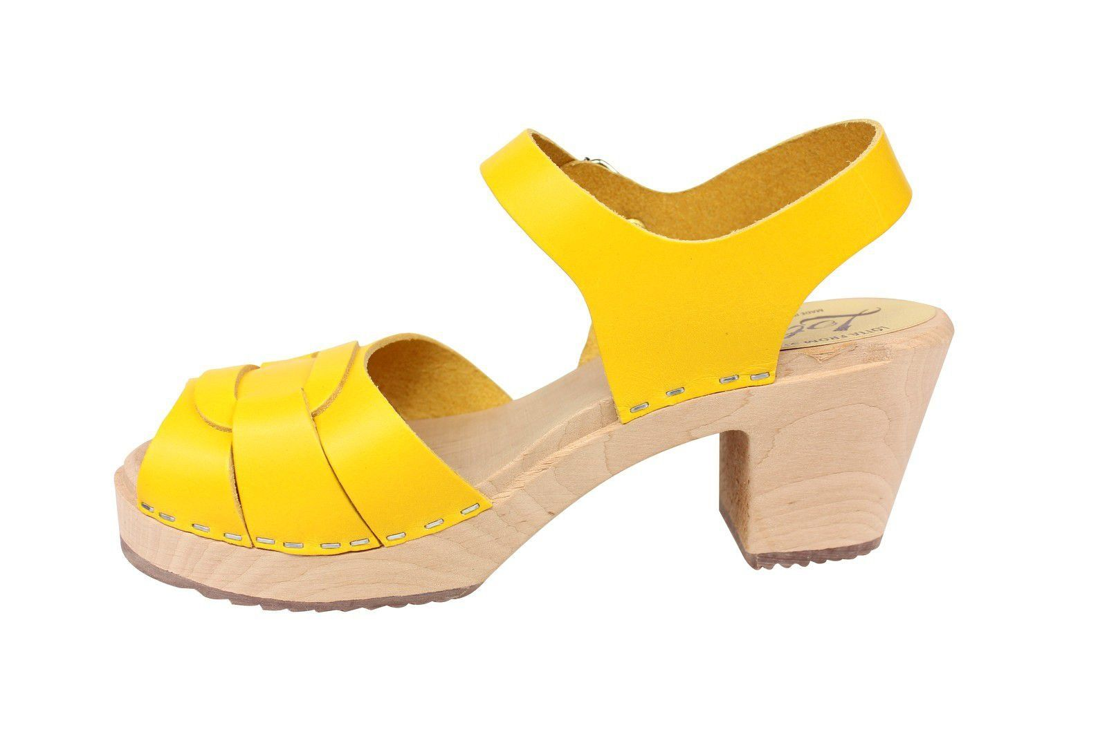 Lotta From Stockholm Peep Toe Summer Yellow rev Side