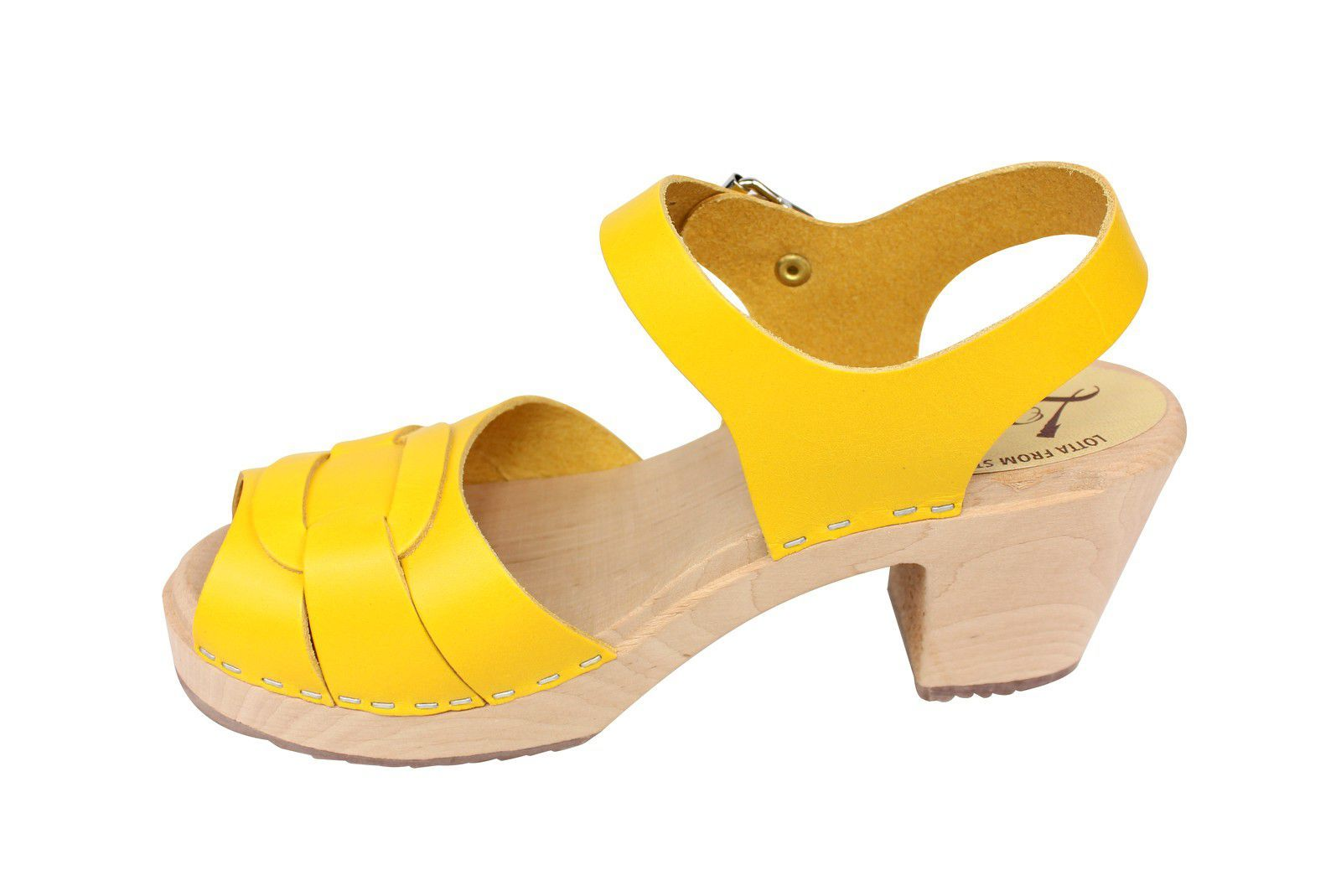 Lotta From Stockholm Peep Toe Summer Yellow Rev Side 2