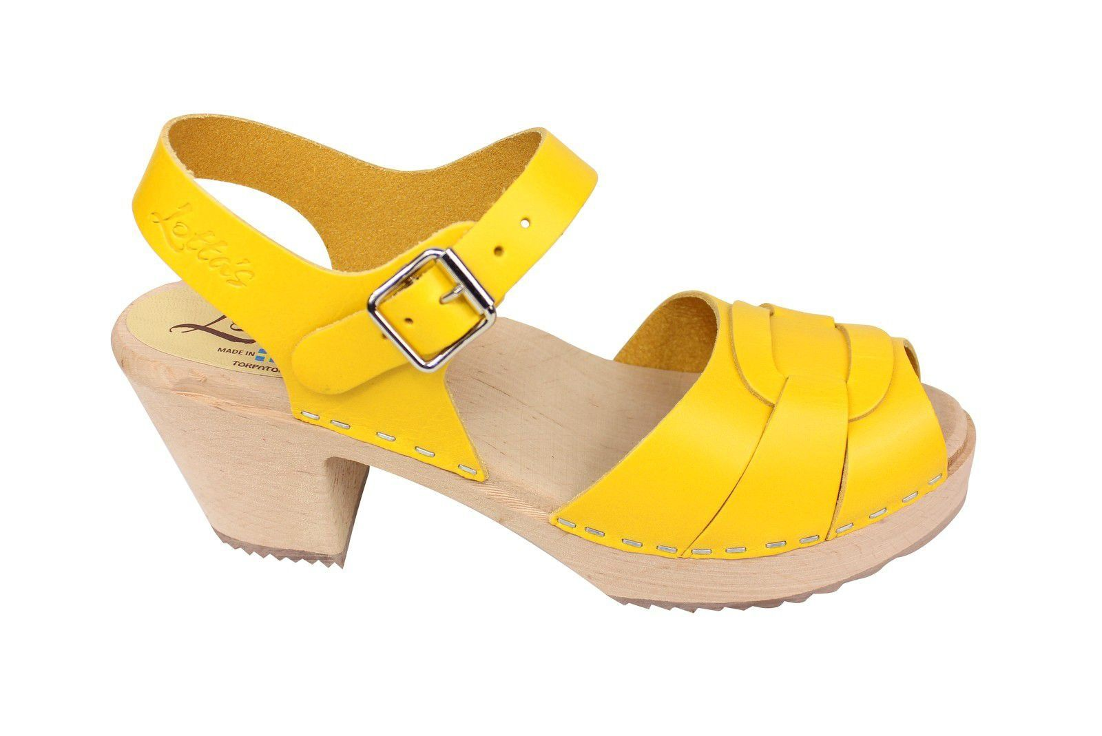 Lotta From Stockholm Peep Toe Summer Yellow Side 2