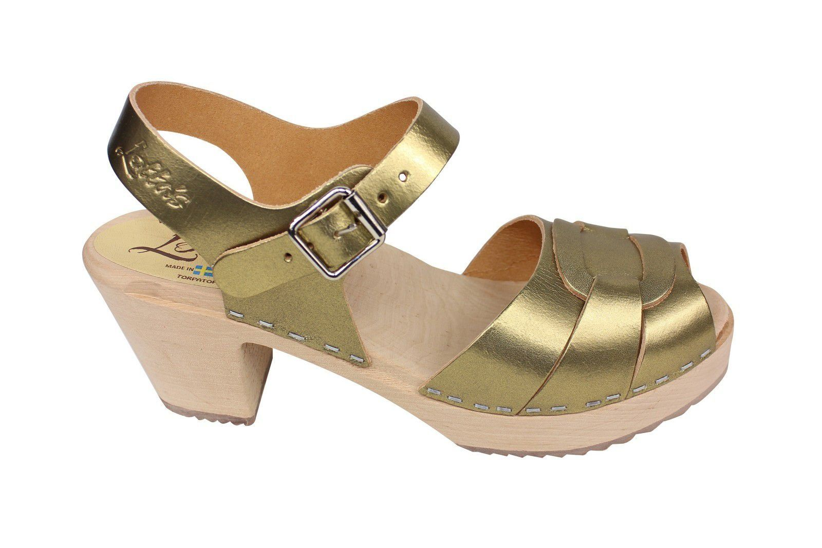 Lotta from Stockholm Peep Toe Antique Gold Side 2