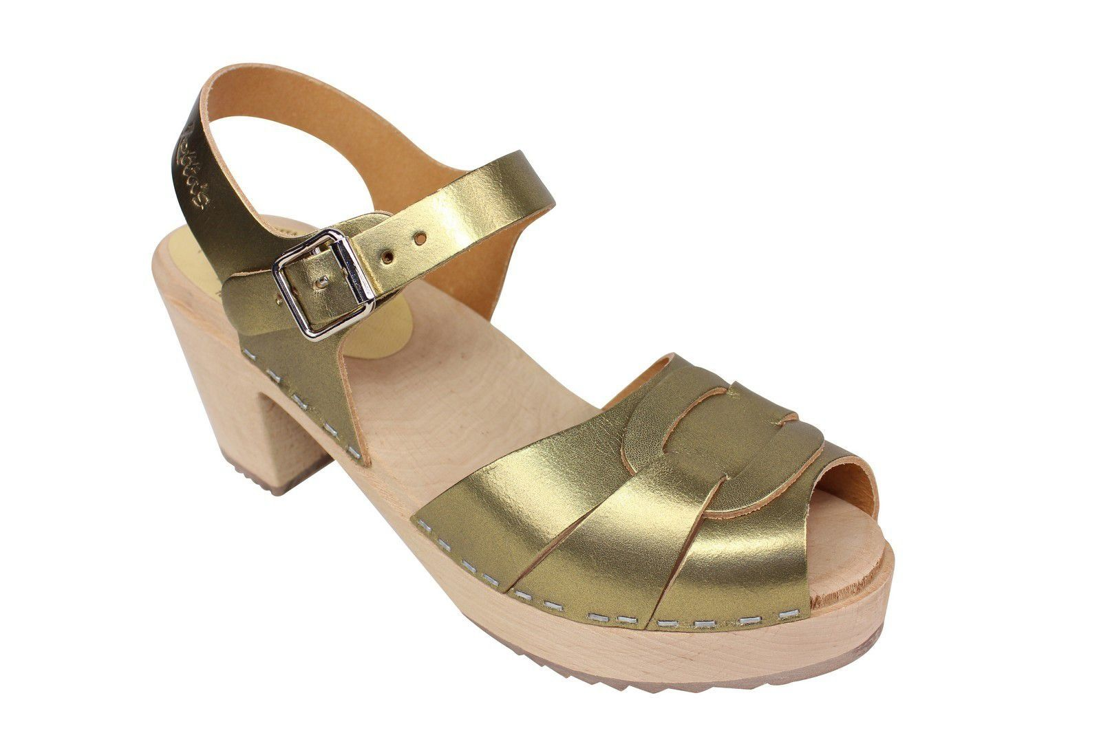 Lotta from Stockholm Peep Toe Antique Gold Seconds