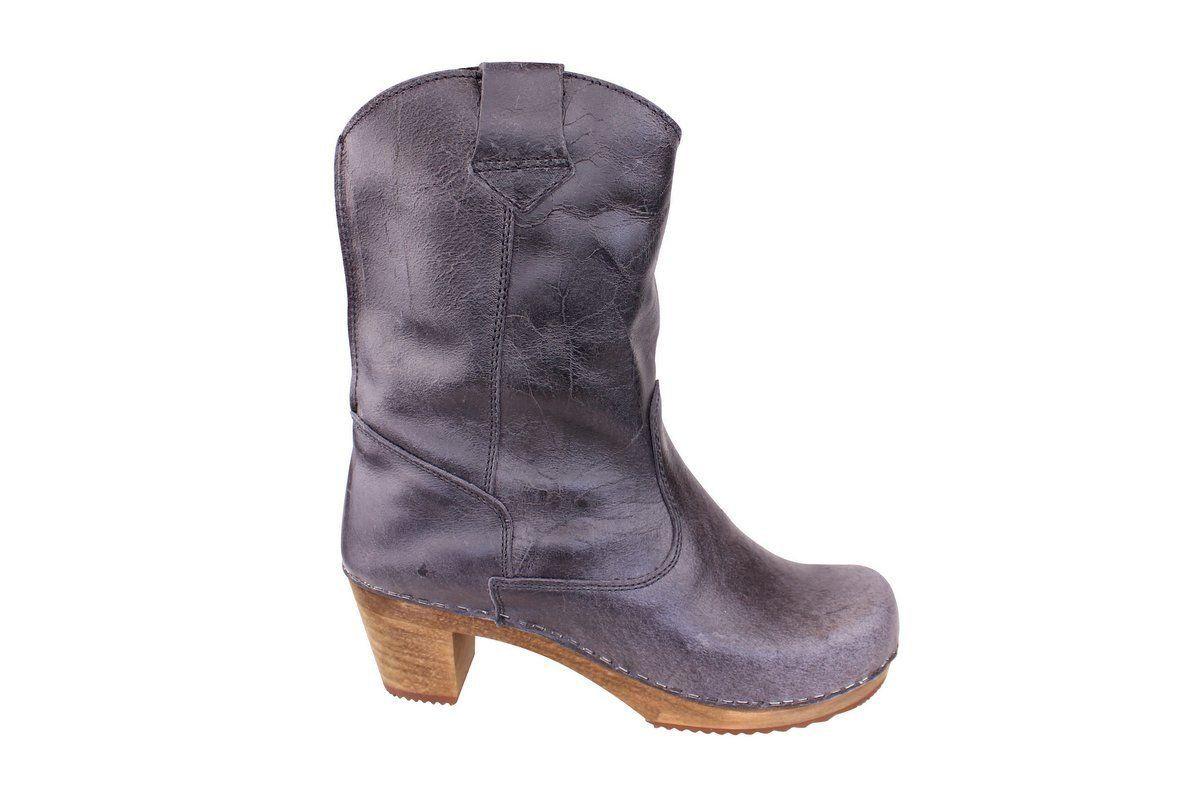 Sanita Laureen Black Clog Boots