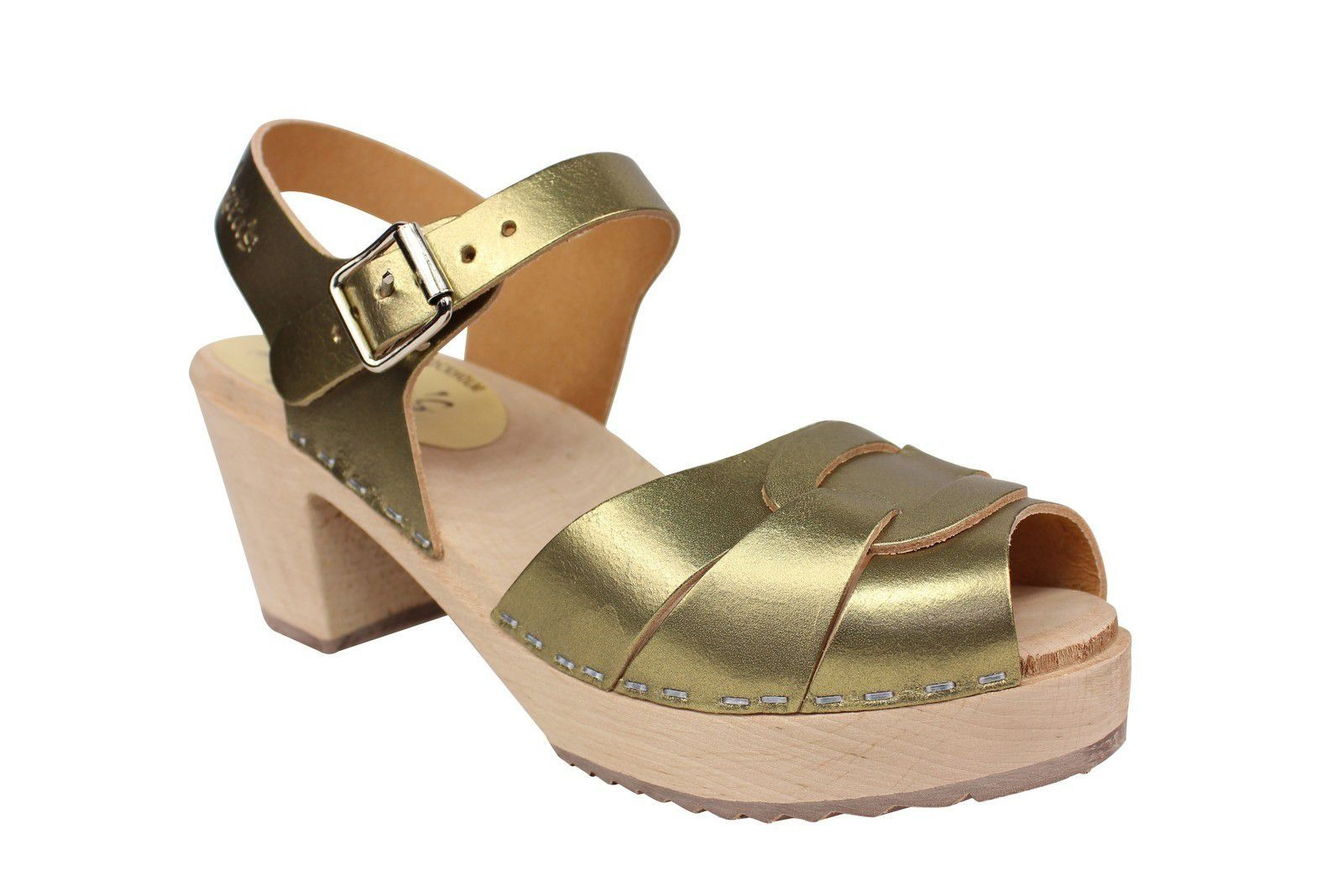 Lotta from Stockholm Peep Toe Antique Gold Main