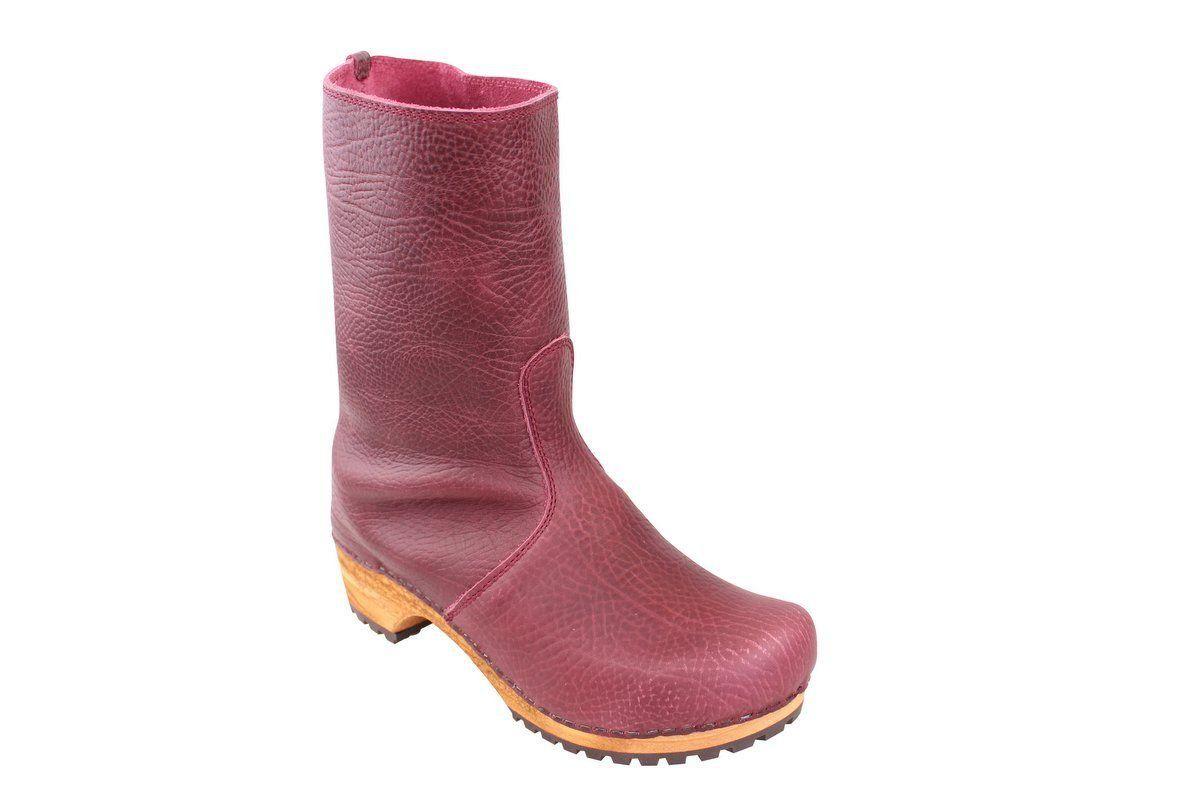 Sanita Puk Aubergine Clog Boot