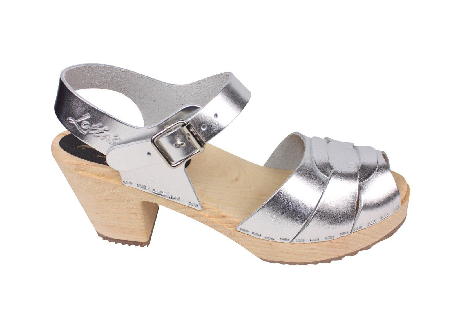 Lotta From Stockholm Silver Peep Toe Clog Side 2