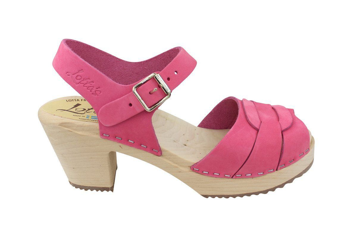 Lotta From Stockholm High Heel Peep Toe Pink Nubuck Side 2