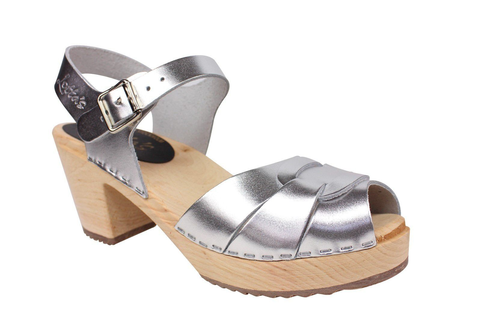 Lotta From Stockholm Silver Peep Toe Clog Main
