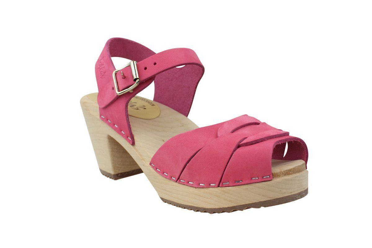 Lotta From Stockholm High Heel Peep Toe Pink Nubuck Main