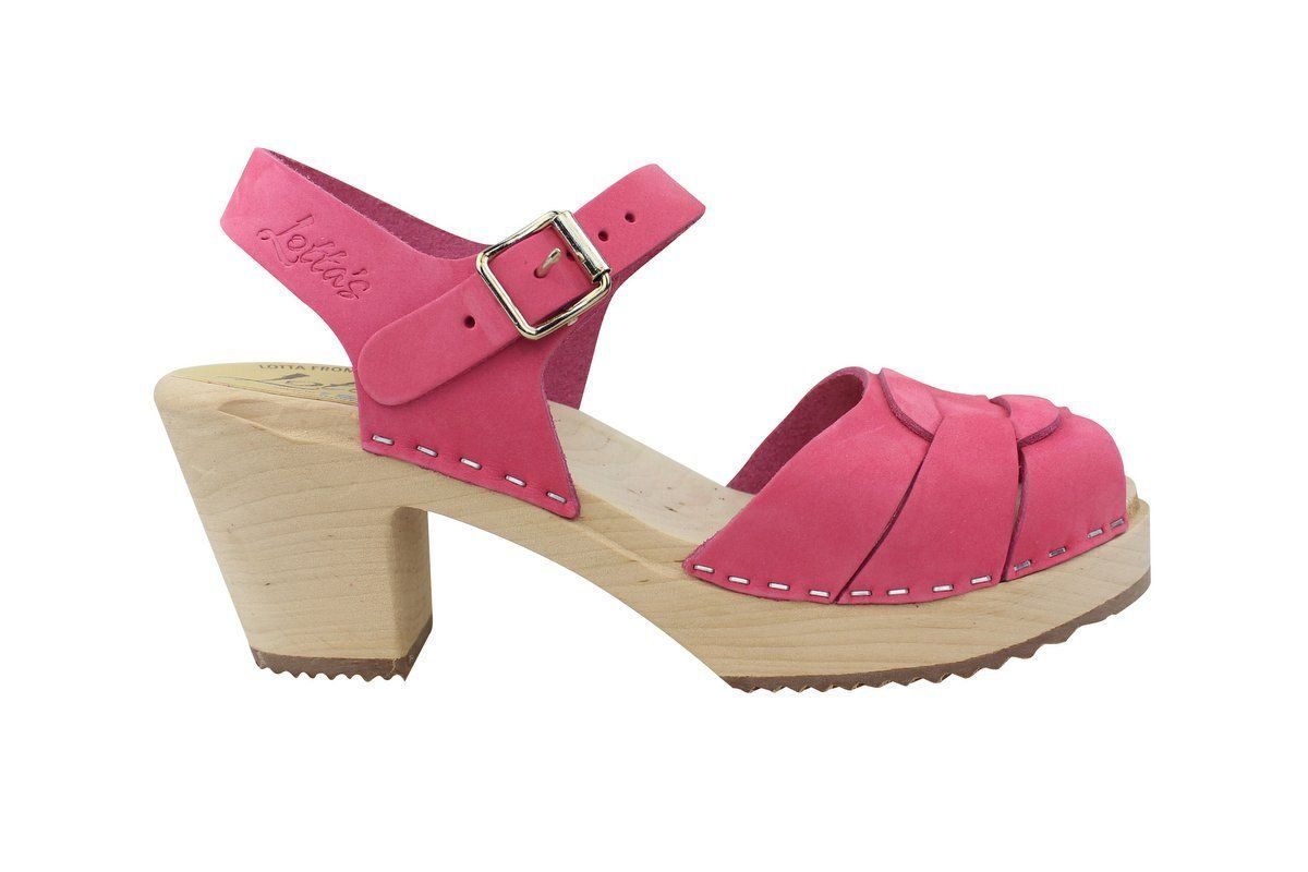 Lotta From Stockholm High Heel Peep Toe Pink Nubuck Side