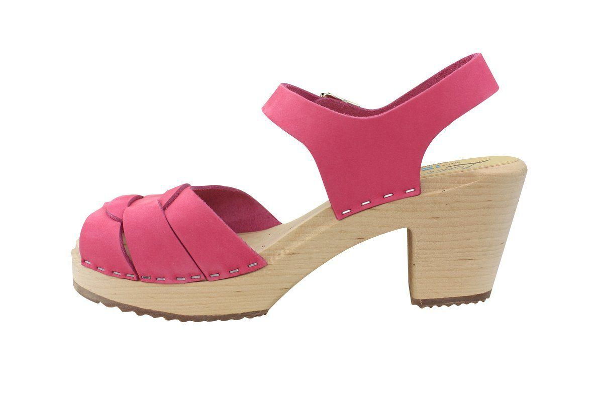 Lotta From Stockholm High Heel Peep Toe Pink Nubuck Rev Side