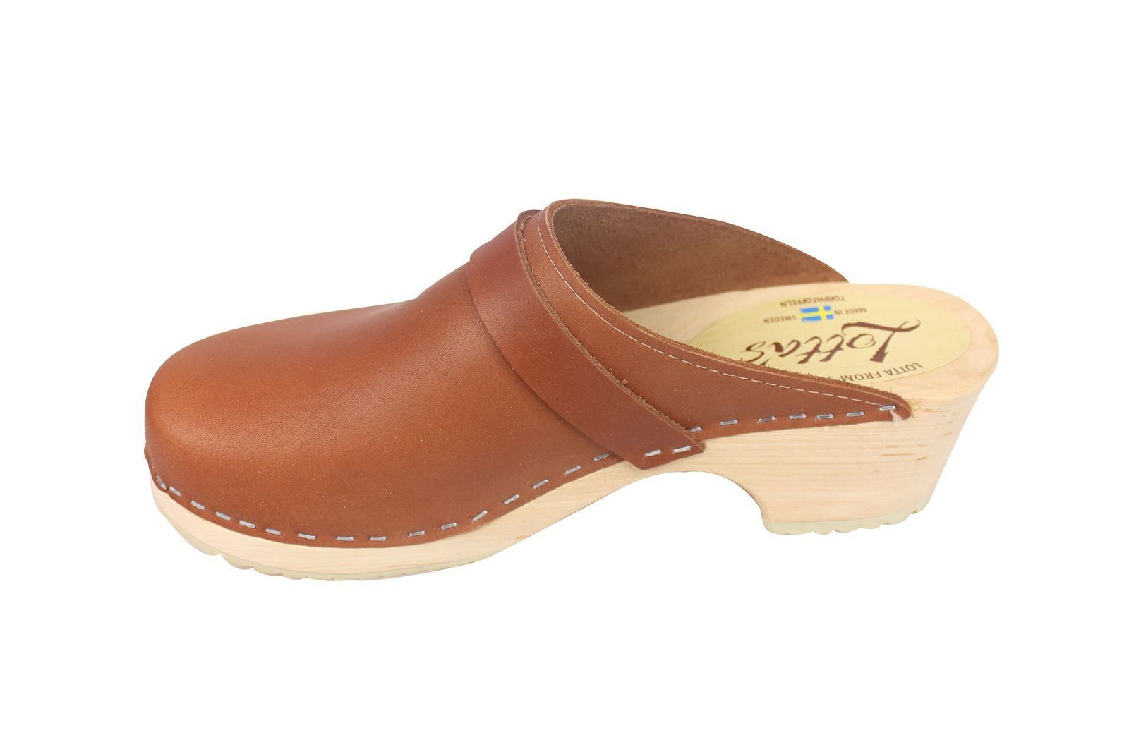 Torpatoffeln Classic Tan Clogs Seconds Rev Side 2