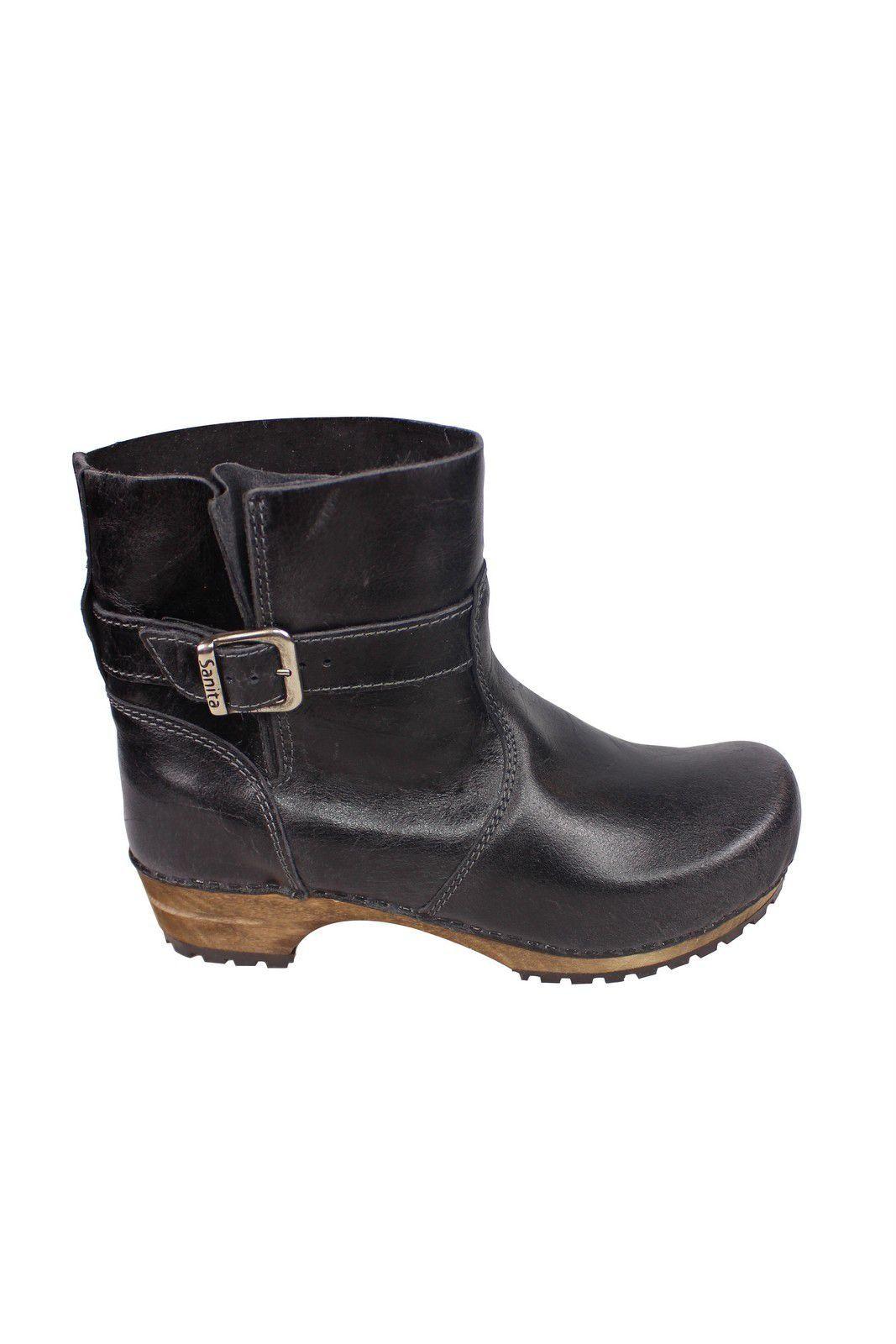 Sanita Mina Low Classic Clog Boot Black 452330 Side 2