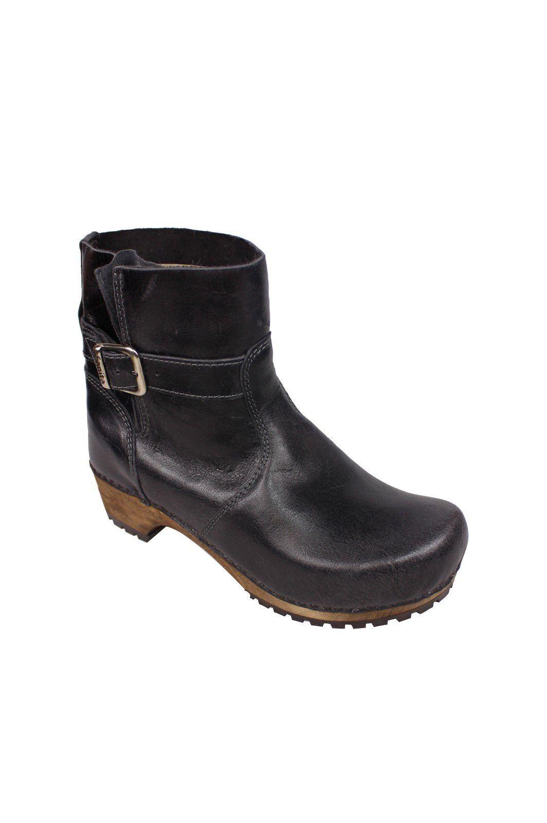 Sanita Mina Low Classic Clog Boot Black 452330