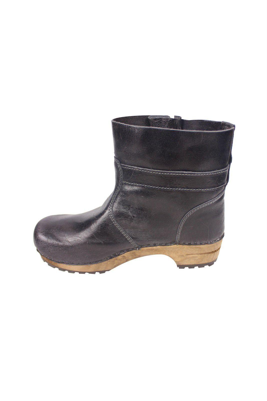 Sanita Mina Low Classic Clog Boot Black 452330 Rev Side 2
