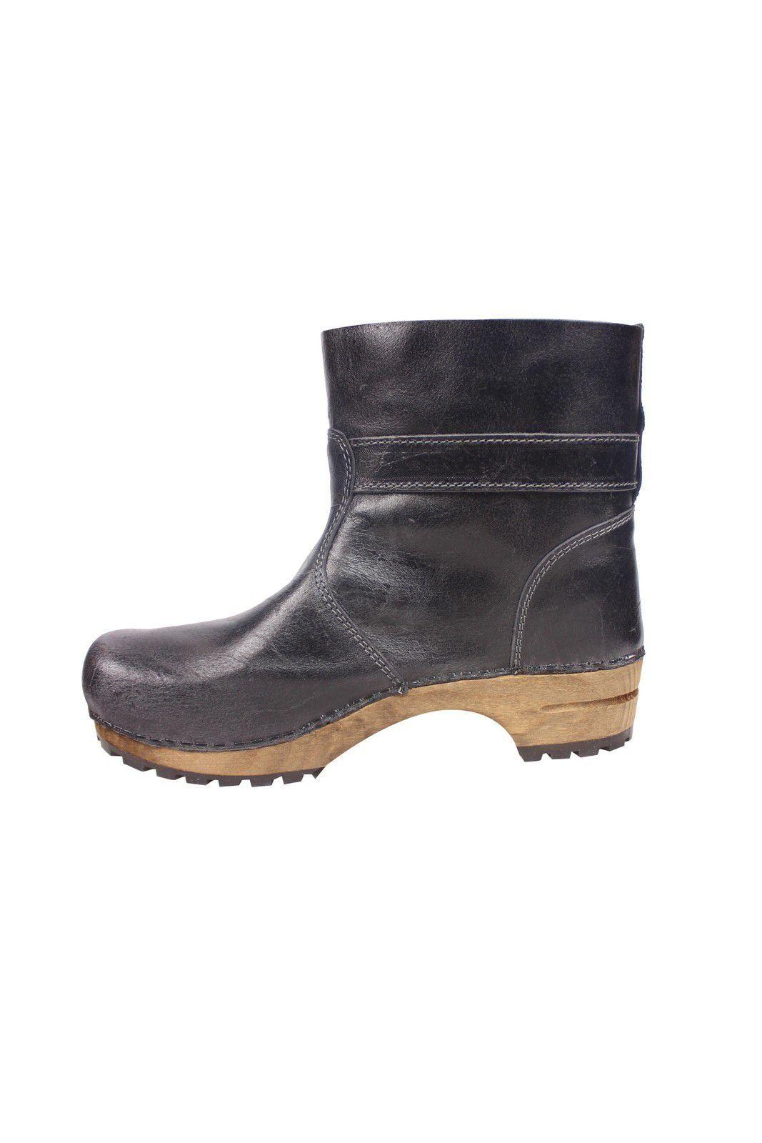 Sanita Mina Low Classic Clog Boot Black 452330 Rev Side