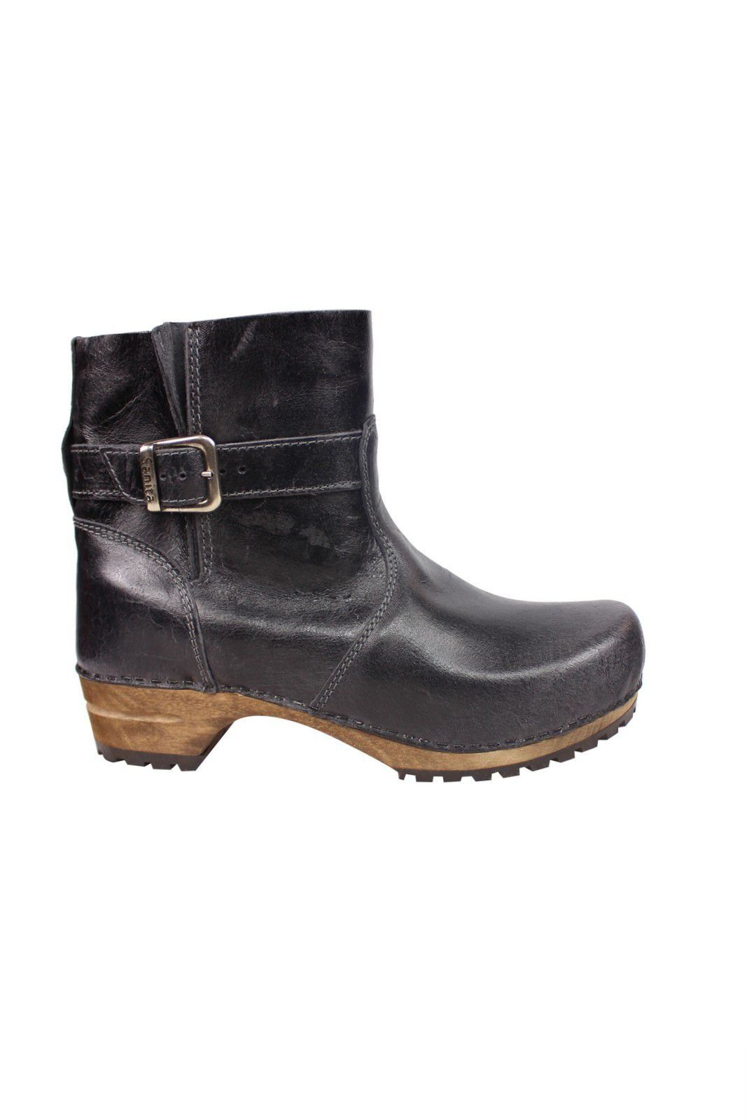 Sanita Mina Low Classic Clog Boot Black 452330 Side