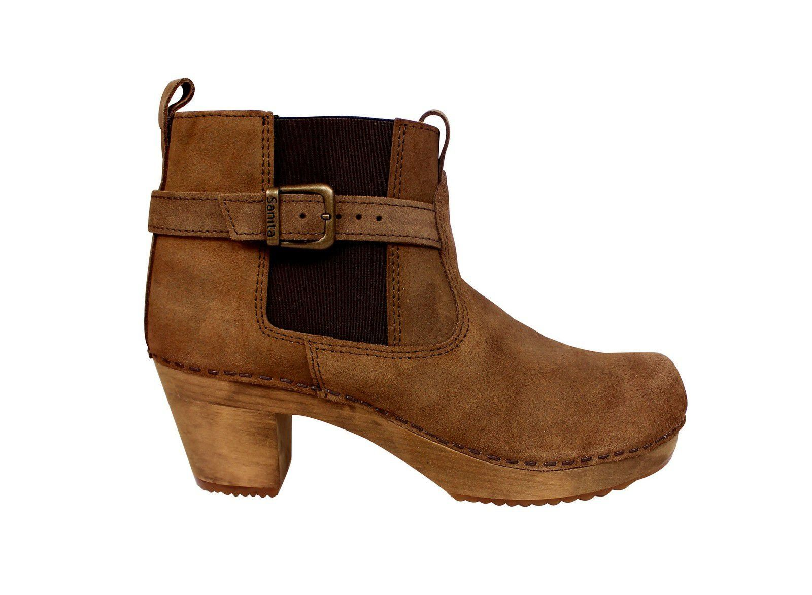 Sanita Peggy Sue Jodphur style ankle boots Antique Brown Side