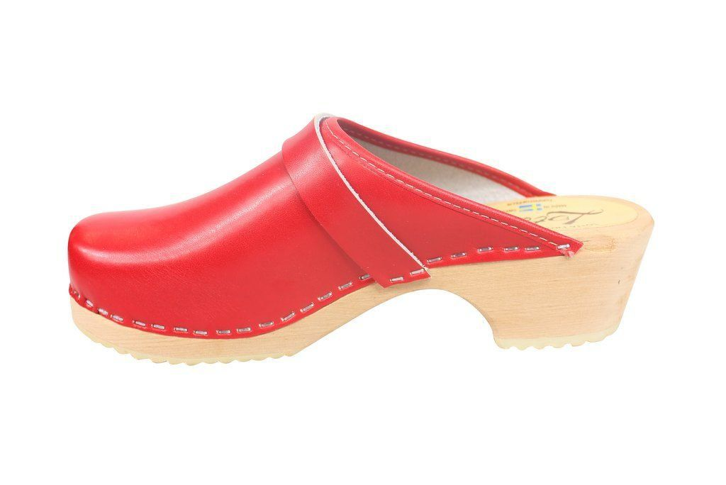 classic red clog rev side