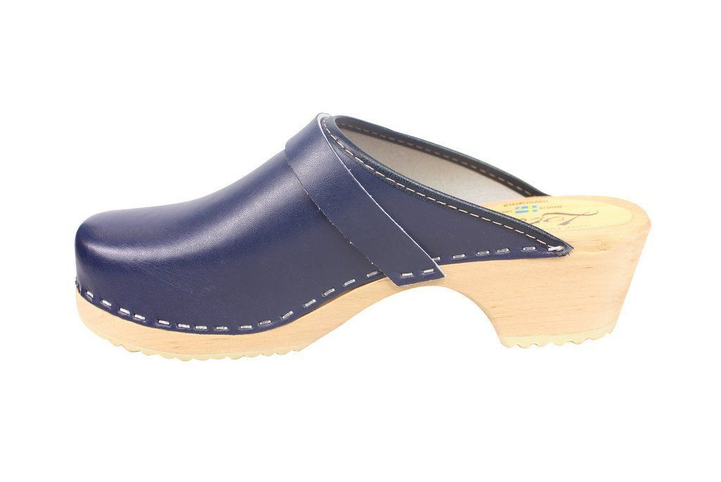 classic blue clog rev side