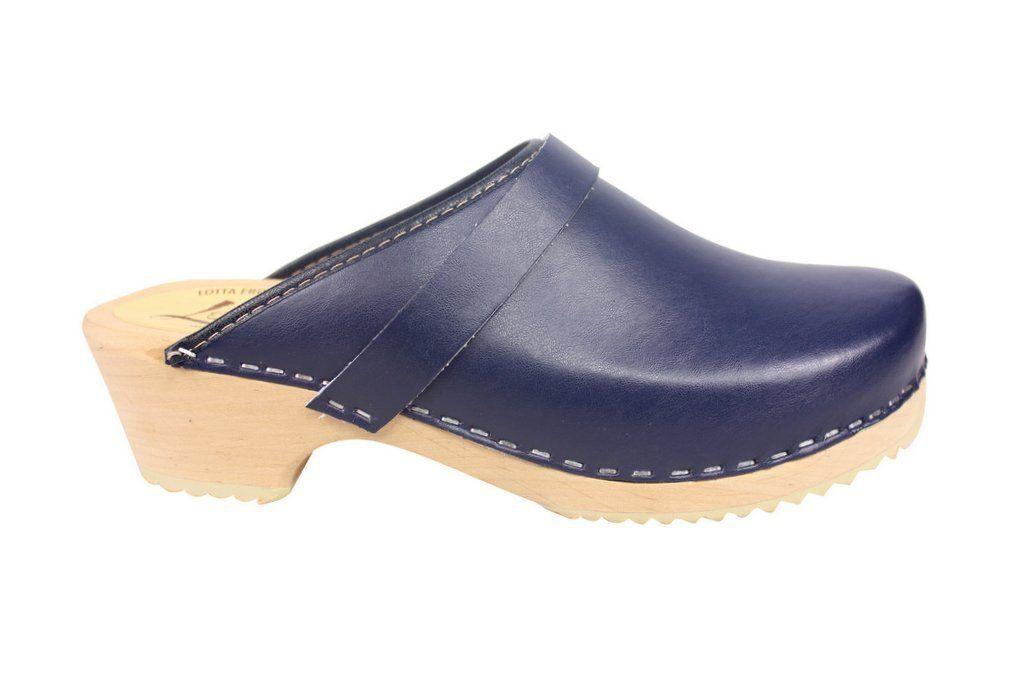classic blue clog side