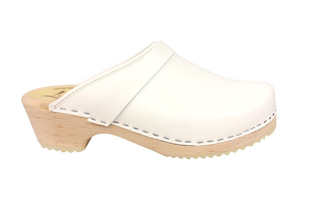 classic white clog side
