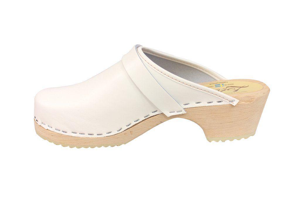 classic white clog rev side
