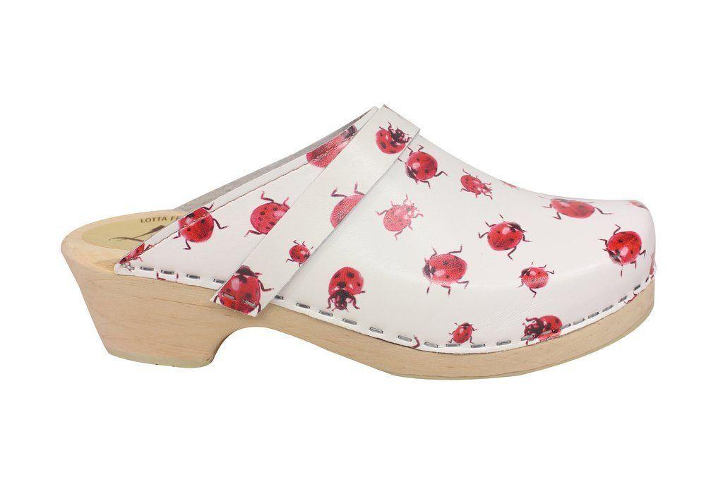 classic ladybug clog side