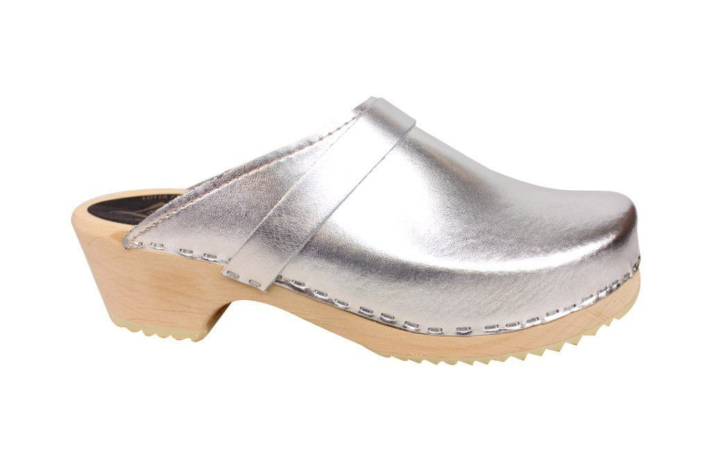 classic silver clog side