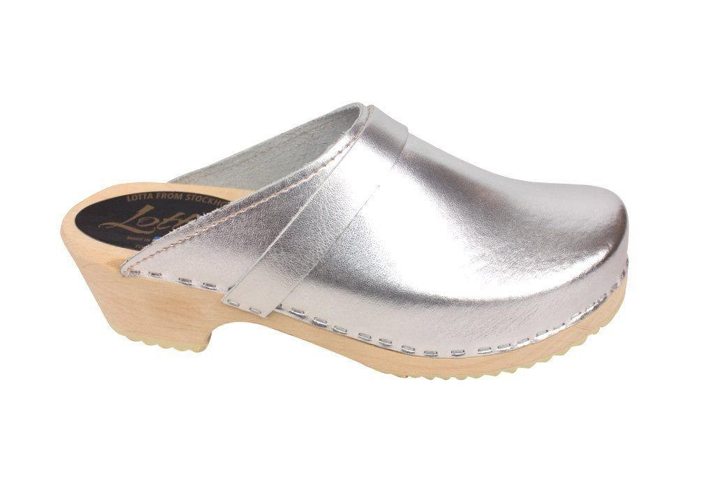 classic silver clog side 2