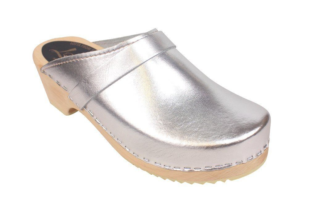 classic silver clog