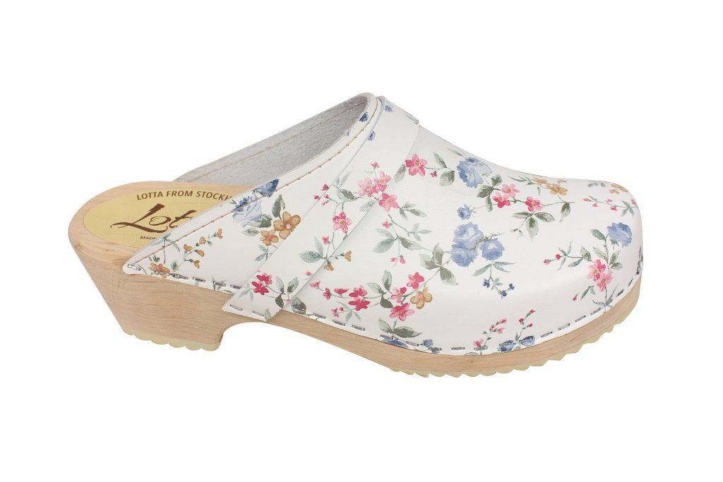 classic wild flower clog side 2