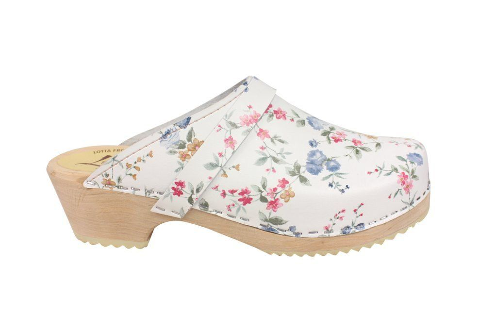 classic wildflower clog side