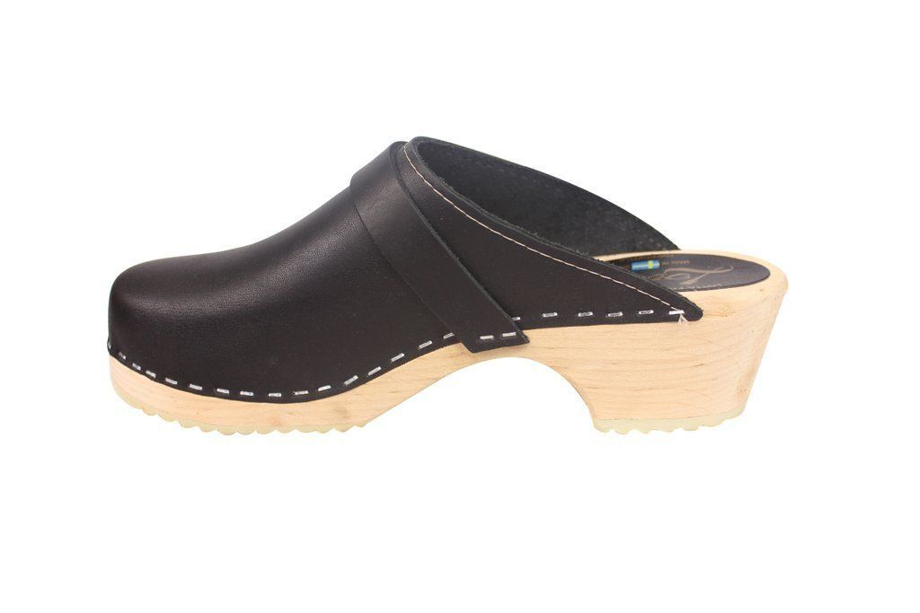 Torpatoffeln Classic Clog Black Rev Side