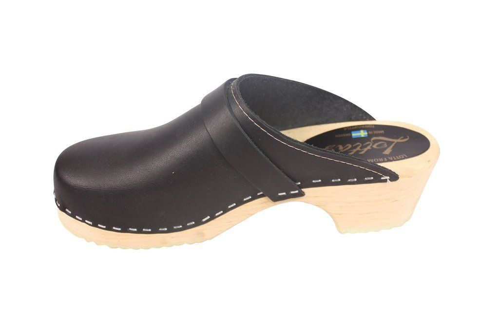 Torpatoffeln Classic Clog Black Rev Side 2