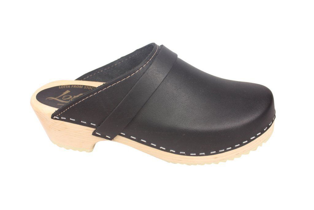 Torpatoffeln Classic Clog Black Side 2