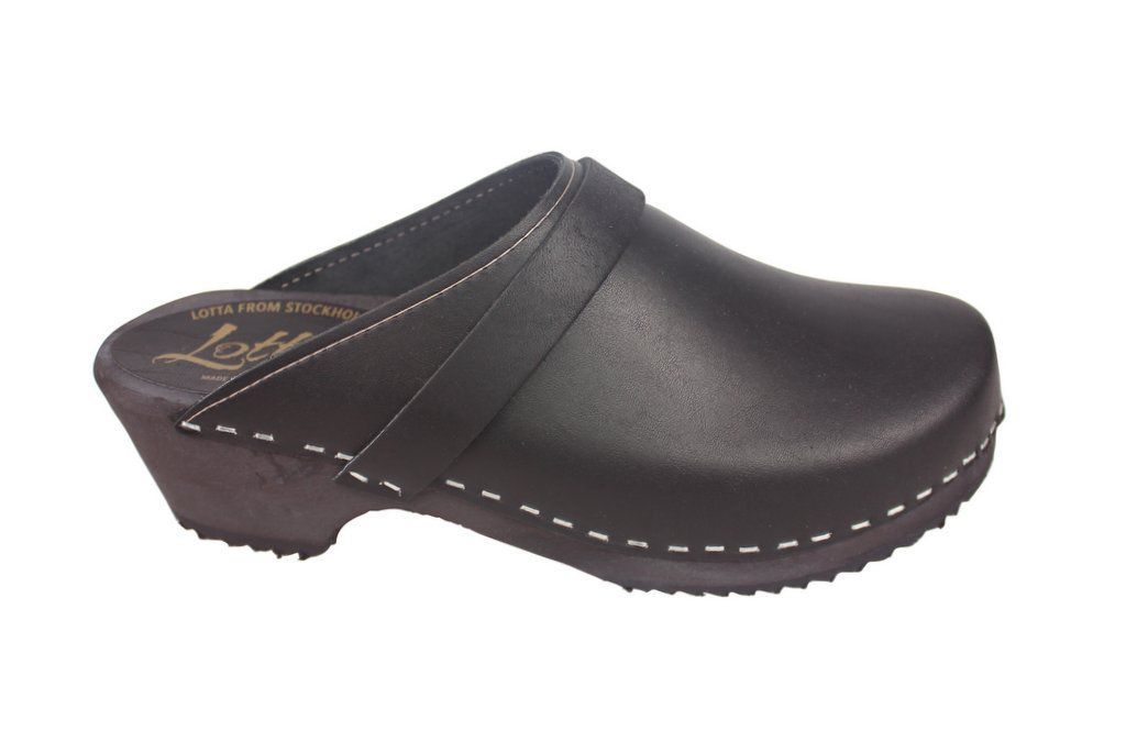 Classic Clog Black Leather Main