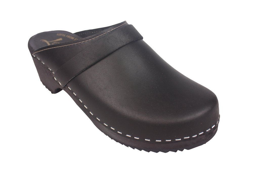 Classic Clog Black Leather