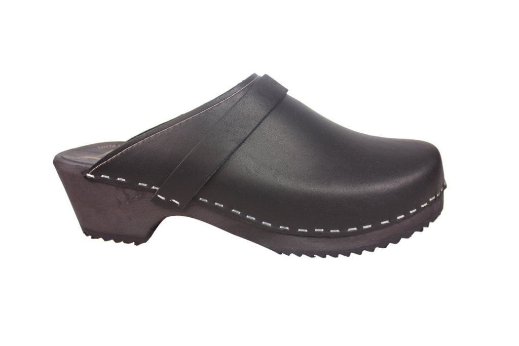Classic Clog Black Leather SIde