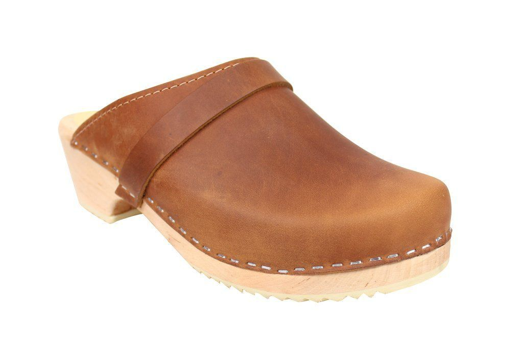 Classic Brown Oiled Nubuck Clogs Main