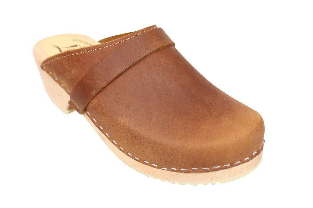 Classic Brown Oiled Nubuck Clogs