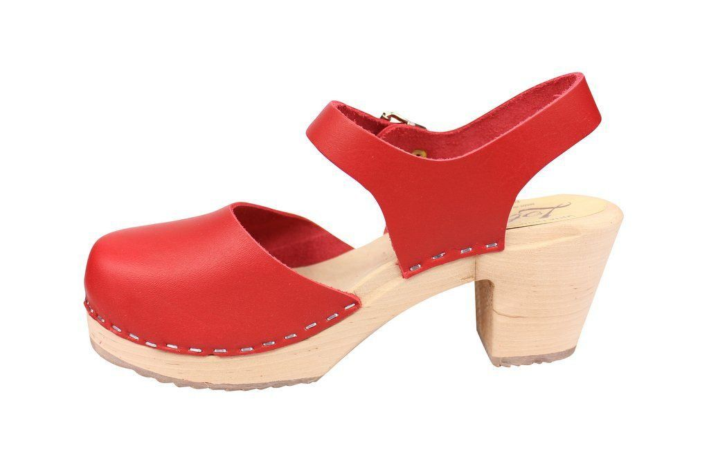 highwood red clog rev side