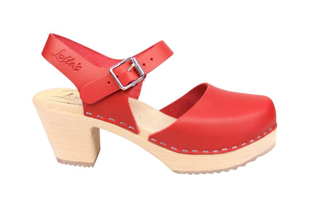 highwood red clog side