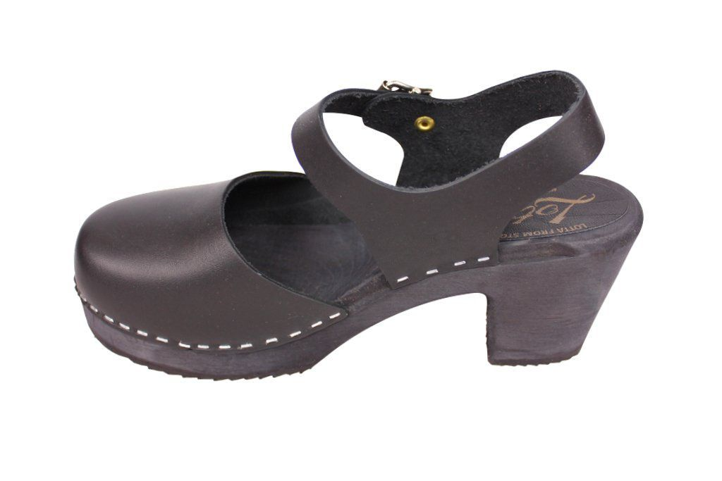 high wood black clog with painted black base rev side 2