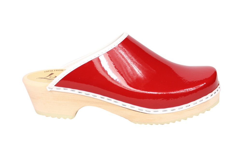 Lotta's Retro Patent Red Side