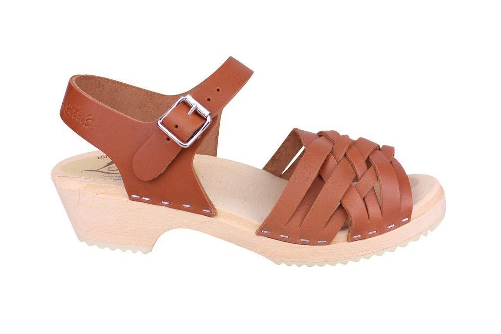 Lotta From Stockholm Low Tan Braided Clogs Side