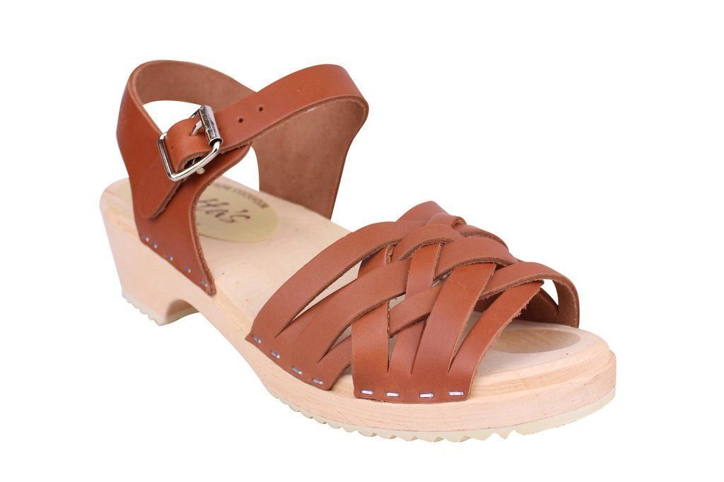 Lotta From Stockholm Low Tan Braided Clogs Main