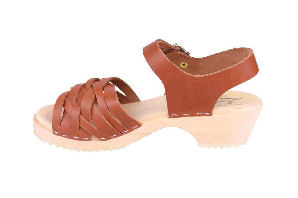Lotta From Stockholm Low Tan Braided Clogs Rev Side