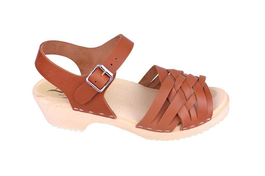 Lotta From Stockholm Low Tan Braided Clogs Side2